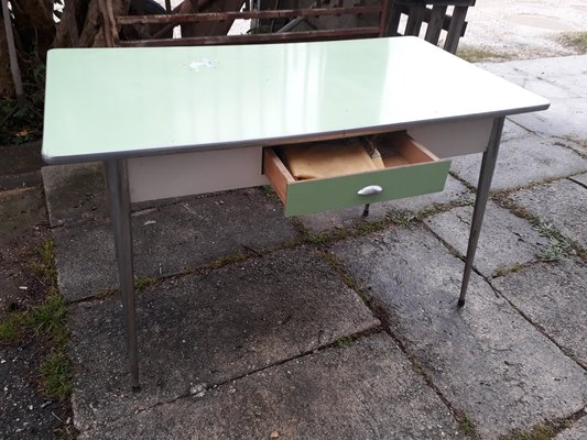 Mid Century Italian 2 Tone Metal And Formica Dining Table 1950s For Sale At Pamono