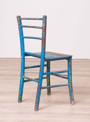 Pleasant Vintage Rustic Painted Wooden Chair Home Interior And Landscaping Oversignezvosmurscom