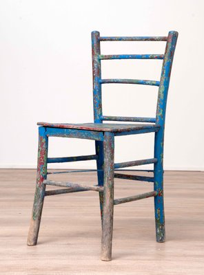 Phenomenal Vintage Rustic Painted Wooden Chair Home Interior And Landscaping Oversignezvosmurscom
