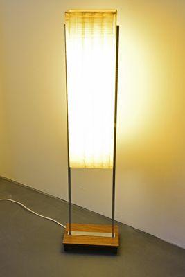 German Chrome Plating and Plastic Floor Lamp by Hustadt Leuchten for  Hustadt Leuchten, 1960s