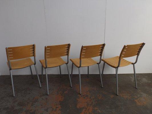 Sillas de comedor modernas de contrachapado de Ruud Jan Kokke para Harvink,  años 80. Juego de 4