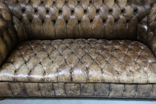 Swell Mid Century Leather Chesterfield Sofa 1950S Pabps2019 Chair Design Images Pabps2019Com