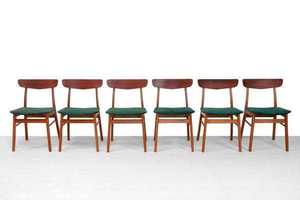 Amazing Danish Beech And Teak Dining Chairs From Farstrup Mobler 1960S Set Of 6 Squirreltailoven Fun Painted Chair Ideas Images Squirreltailovenorg