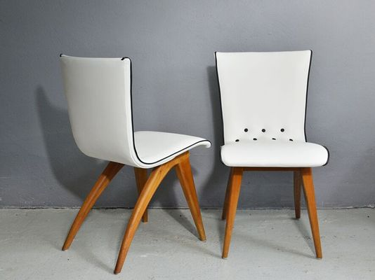 Scandinavian Modern Beech Swing Dining Chairs From Coulemborg 1949