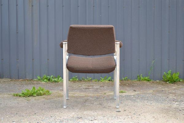 Söhne1960er3er AluminiumWollbezug Stühle Set für Röder Borgsen mit aus Miller von Gestell nP80XkOw
