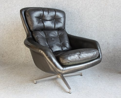 Astounding Danish Leather Chair And Footstool By H W Klein For Bramin 1960S Ibusinesslaw Wood Chair Design Ideas Ibusinesslaworg
