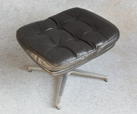 Remarkable Danish Leather Chair And Footstool By H W Klein For Bramin 1960S Short Links Chair Design For Home Short Linksinfo