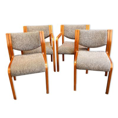 Remarkable Vintage Dining Chairs From Tract Set Of 4 Alphanode Cool Chair Designs And Ideas Alphanodeonline