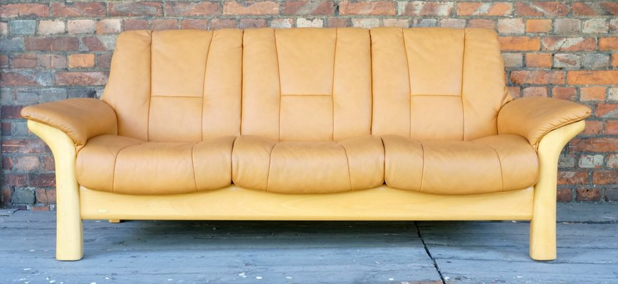 Vintage Scandinavian Modern Leather