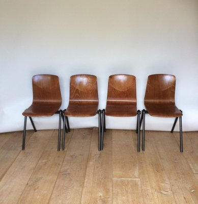 Cool Industrial Plywood And Steel Dining Chairs From Galvanitas 1960S Set Of 4 Alphanode Cool Chair Designs And Ideas Alphanodeonline