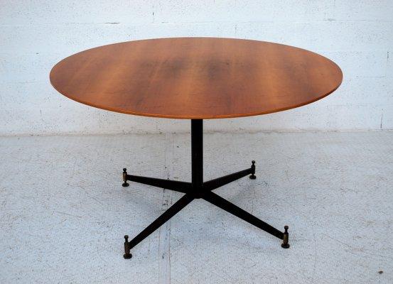 Tavolo da pranzo rotondo di Ignazio Gardella per Azucena, anni \'50