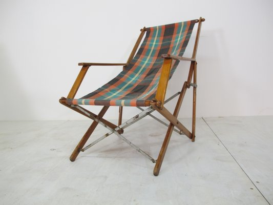 Cool Vintage Beech Folding Camping Chairs 1930S Set Of 2 Pabps2019 Chair Design Images Pabps2019Com