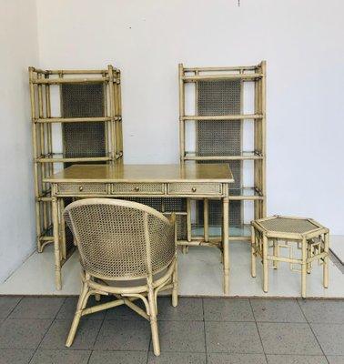 Vintage Schlafzimmer-Set aus Bambus, 1980er