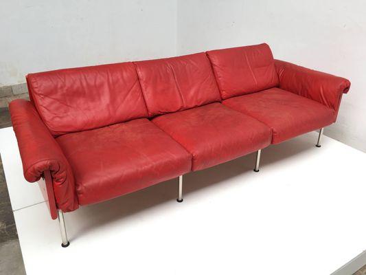 Mid Century Finnish Red Leather Ateljee
