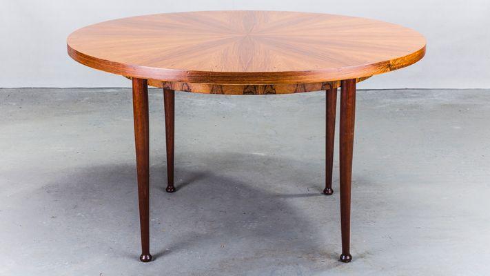 Tavolo da pranzo rotondo in palissandro, Danimarca, anni \'60