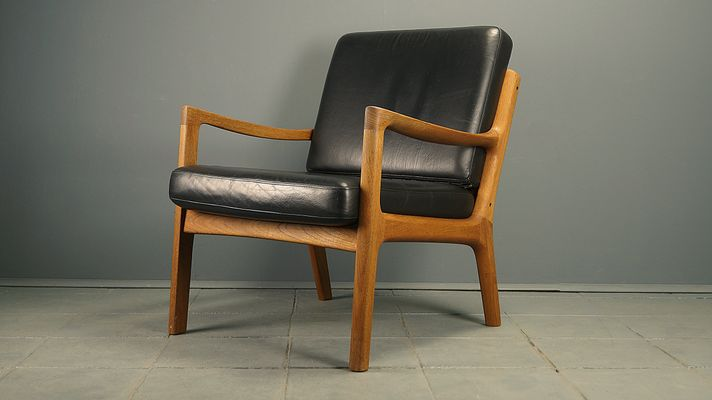 Admirable Danish Teak Leather Easy Chair By Ole Wanscher For France Son 1970S Inzonedesignstudio Interior Chair Design Inzonedesignstudiocom