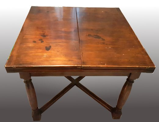 Outstanding Antique Italian Walnut Dining Table Download Free Architecture Designs Intelgarnamadebymaigaardcom
