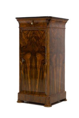 59baaa35b7 Antique Biedermeier French Walnut Bedside Cabinet for sale at Pamono