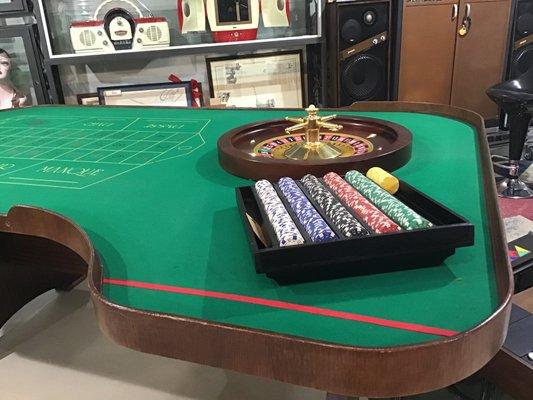 Tavolo Da Poker Legno.Tavolo Da Gioco In Legno Ottone E Legno Italia Anni 60