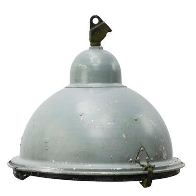 Spiksplinternieuw Industrial Grey Aluminium and Cast Iron Pendant Lamp, 1950s for HE-51