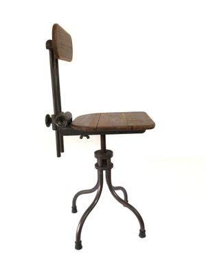Astonishing Vintage French Industrial Adjustable Factory Machinist Swivel Stool Forskolin Free Trial Chair Design Images Forskolin Free Trialorg