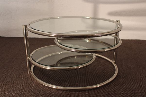 Chrome Plated And Glass Coffee Table, 1960s