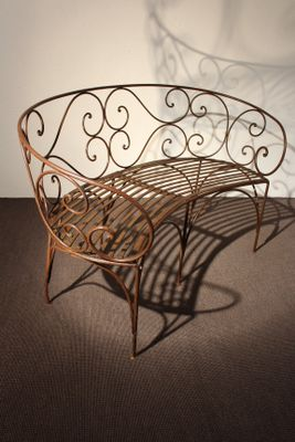 Astonishing Antique Iron Garden Bench Caraccident5 Cool Chair Designs And Ideas Caraccident5Info