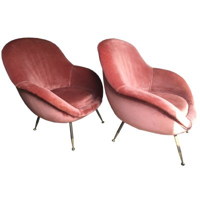Super Italian Brass And Corian Sofas From Isa Bergamo 1950S Set Of 2 Uwap Interior Chair Design Uwaporg