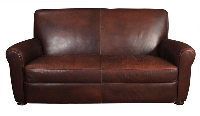 Enjoyable Vintage French Leather Club Sofa 1930S Frankydiablos Diy Chair Ideas Frankydiabloscom