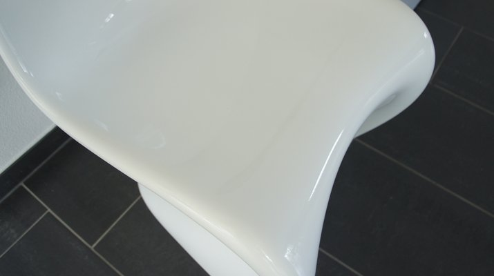 Sedia Panton S bianca di Verner Panton per Vitra, 1998, set di 2