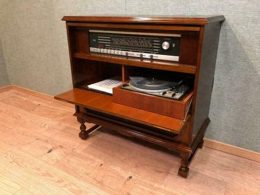 Vintage Chippendale Style Stereo Cabinet