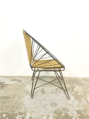 Marvelous Mid Century Iron And Rope Chair 1950S Ocoug Best Dining Table And Chair Ideas Images Ocougorg