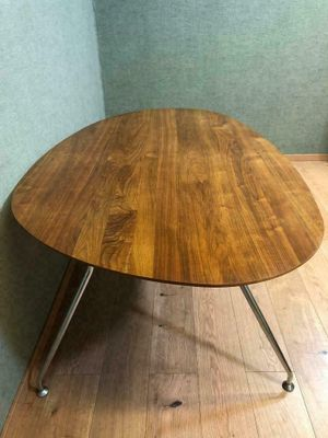 7626e5f226 Metal and Wood Dining Chairs and Table, 1960s for sale at Pamono