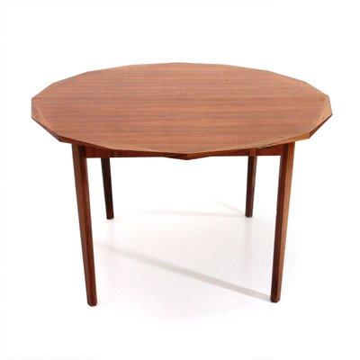 Tavolo da pranzo rotondo Mid-Century in legno di Tredici, anni \'60