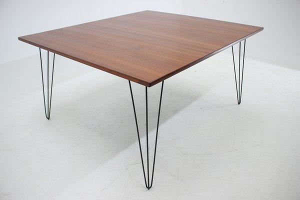 Tavolo da pranzo Mid-Century in ferro e legno, anni \'60