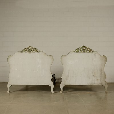 Antique Italian Wooden Daybeds Set Of
