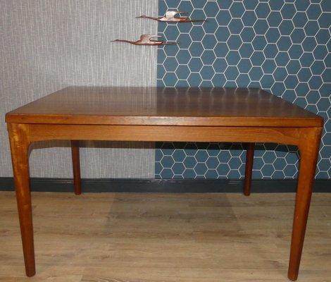 Table de Salle à Manger Extensible en Teck par Henning Kjærnulf pour Vejle  Mobelfabrik, 1960s