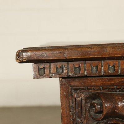 Amazing Antique Italian Walnut Carved Storage Bench Theyellowbook Wood Chair Design Ideas Theyellowbookinfo
