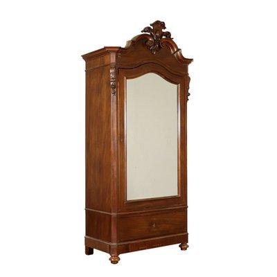 reputable site 93899 b0225 Antique Italian Mahogany Single Door Wardrobe with Mirror