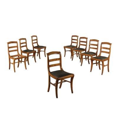 Remarkable Antique Italian Cherry Leather Dining Chairs Set Of 8 Creativecarmelina Interior Chair Design Creativecarmelinacom