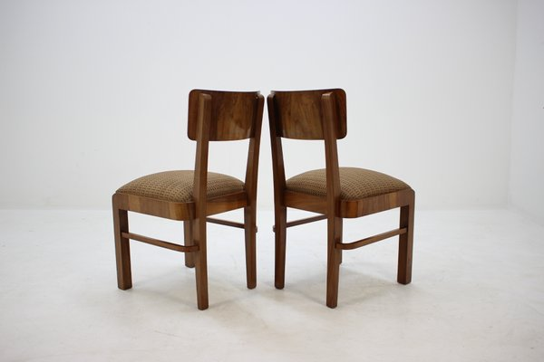 Sedie Legno Anni 30.Sedie Da Pranzo Art Deco In Legno Anni 30 Set Di 4