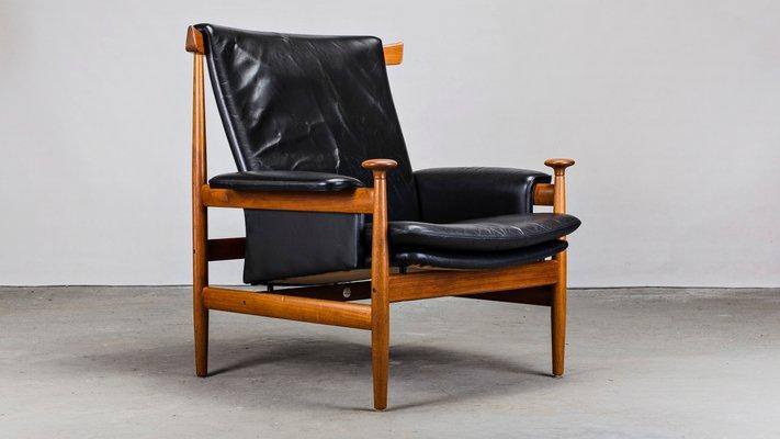 Magnificent Danish Leather Teak Lounge Chair Ottoman Set By Finn Juhl For France Son 1950S Uwap Interior Chair Design Uwaporg