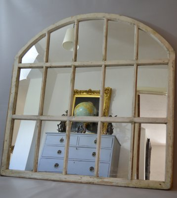 Large Arched Window Frame Mirror 1970s