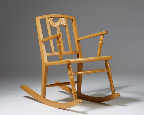 Miraculous Vintage Modernist Wooden Rocking Chair By Carl Horvik 1923 Ncnpc Chair Design For Home Ncnpcorg