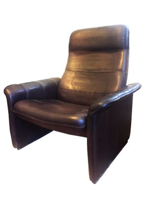 Outstanding Leather Ds50 Reclining Armchairs From De Sede 1970S Set Of 2 Bralicious Painted Fabric Chair Ideas Braliciousco