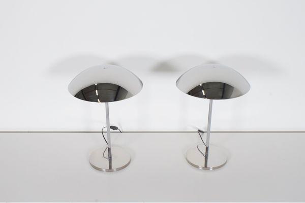 Cromadas Lámparas Mesa 70Juego 2 Estilo LumessAños De Bauhaus xWeCoErBQd