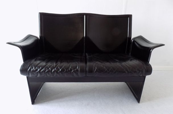 Wondrous Italian Modern Korium 2 Seater Leather Sofa By Tito Agnoli For Matteo Grassi 1970S Dailytribune Chair Design For Home Dailytribuneorg