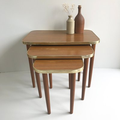 Tables Gigognes Mid Century En Bois 1960s