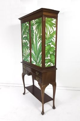 Large Vintage Neo,Classical Wooden Cabinet with Versace Palm Decoupage,  1920s