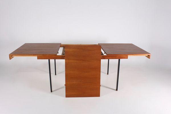Table Pierre Guariche Extensible En Acier Teck Par Pour Meurop1960s De Manger Salle À Grande Et byf6IYgv7